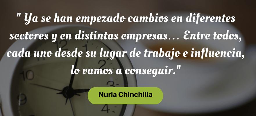 Nuria Chinchilla pacto por los horarios